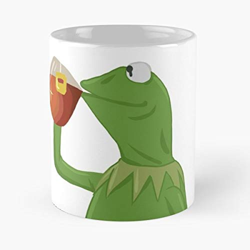 Ice Cart (Kermit Muppet Meme Business Tea Teas Lipton Ice Frog Green Drink - Best 11 Ounce Ceramic Coffee Mug Gift)