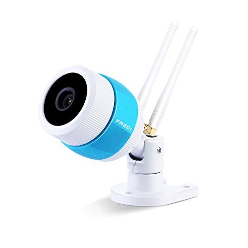 Galleria fotografica FREDI HD Wifi 1080P bullet camera esterno senza fili IP Camera per la sorveglianza impermeabile con visione notturna Motion Detection, telecamera per la sorveglianza domestica per Esterno Casa & Lavoro, supporta memoria fino a 128G SD (non inclusa) (8D06W-720P)
