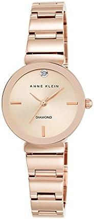 ساعة يد للسيدات من آن كلاين، قرص ساعة ماسي أصلي
