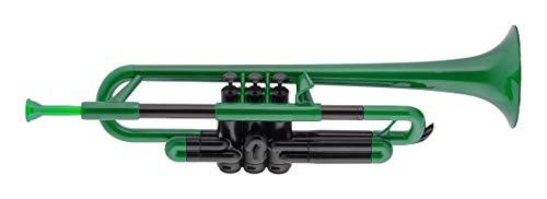pTrumpet 700628 Trompete mit Tasche und Mundstück grün