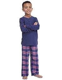 Hari Deals Infantil Pijama niño Liso Manga Larga Blusa y Pantalones Conjunto con Educación Física Bolso