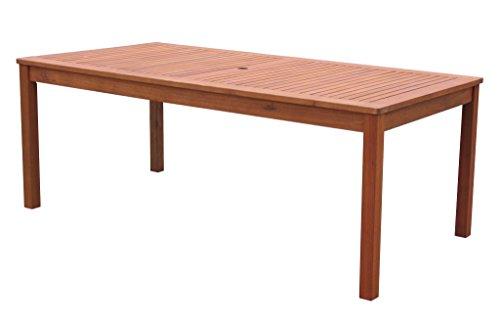 Gartenmöbel 17tlg mit 200cm Tisch Terrassenmöbel Santos Rubinrot - 6