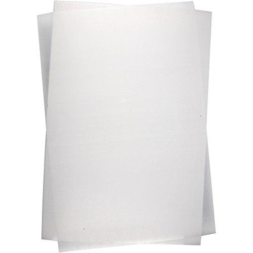 Schrumpffolienplatten, Blatt 20x30 cm, matt transparent, 10Blatt