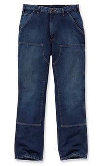 Double Front Logger Jeans - Farbe: Rinsed Indigo - Größe: W40/L34 (Canvas, Denim, Jeans)