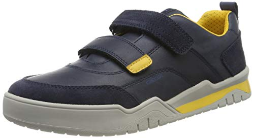 Geox J Perth Boy C, Zapatillas para Niños, Azul Navy/Yellow C0657, 30 EU