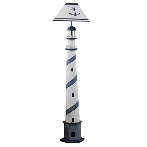 Retro Leuchtturm Stehlampe Wohnzimmer Schlafzimmer Nachttischlampe Energiesparende Kinder Vertikale Tischlampe Sofa Lampe (Color : Blue) -