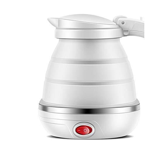 Faltbarer Wasserkocher der Reise, 500W Mini faltender tragbarer Reisekessel-Nahrungsmittelgrad-Silikon-Wasserkocher 110-240V globaler Stecker für kampierendes schnelles kochendes Wasser-Kochendes Wass