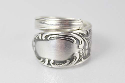 Rokoko Besteck Schmuck Ring, ca. 56 (18) Ring aus Besteck