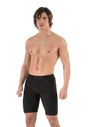 Herren Große Kohle (2 Stück der Männer hervorragende Qualität weiche Baumwolle lange Bein Boxer-Shorts(1150) (xx-groß(xx-large), schwarz & Kohle (blk&chr)))
