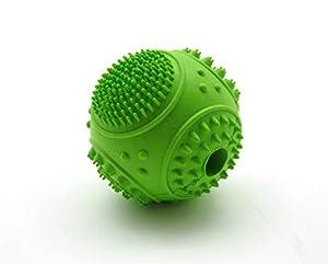 HNBGY Résistance aux morsures Distributeur d'entraînement interactif durable de chien d'animal familier et balle dentaire nettoyante de dents de caoutchouc de jouet de mastication de chien (7.5cm, ver