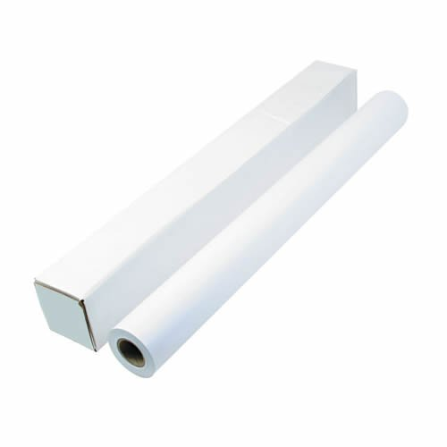 Q-Connect - Rollo de papel para plóter (914 mm x 50 m, 90 g/m², 4 unidades)