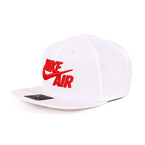 Nike Unisex-Erwachsene U NSW Pro Cap Air Classic Kappe, Weiß/Habanero-Rot, Einheitsgröße Nike Classic Cap