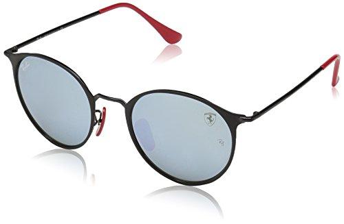 Ray-Ban Junior Unisex-Erwachsene 0RB3602M F02230 51 Sonnenbrille, One Top Matte Black/Lightgreenmirrorsilver