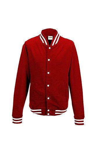 Awdis Herren College-Jacke Rot - Fire Red