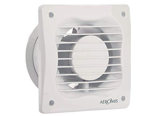 Standard-Abluftventilator 150 mm Aeromis, Wandmontage, für Badezimmer, WC, Büro, leise, geringer Energieverbrauch