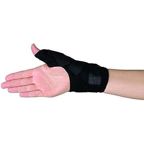 Estabilizador del pulgar Soles — Refuerzo de neopreno transpirable y ajustable — Talla única — Reduce el dolor de la artritis reumatoide, el síndrome del tunel carpiano y estabiliza los ligamentos — Soporte