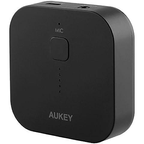 AUKEY Bluetooth Empfänger Tragbare Drahtlos Bluetooth 3.0 Receiver Wireless Adapter Audiogeräte für Heim HiFi Auto Lautsprechersystem und Handy mit Stereo 3.5 mm