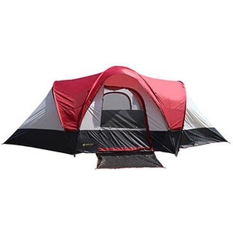 LJN A prueba de tormenta y viento doble al aire libre tienda de campaña,Rojo,5-8 personas