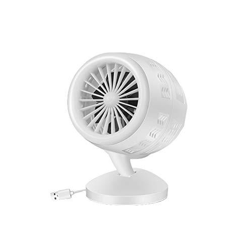 Piccolo USB Personal scrivania ventilatore 2 costi Tabella Portable Desktop ventilatore alimentato dal USB Funzionamento silenzioso per la corsa Home Office auto Piscina esterna Bianco 1PC