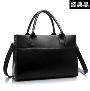 Meoaeo Europäische Und Amerikanische Mode Handtaschen Handtasche Einfache Schultertasche black