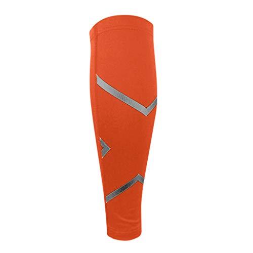 SO-buts Wadenkompression Manschette Bein Leistungsunter Stützung Schienbein Schiene Waden Schmerzlinderung, Sportschutz Wadenatmung Smanschette(Orange,M) -