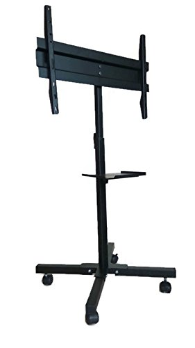 Smart Shelter LED/LCD TV Full Motion Floor Mount/Pedestal Stand/TV Cart (100% Made of Metal)