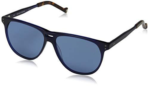 Hackett London Herren Bespoke Sonnenbrille, Blau (Navy/Grey), 57.0