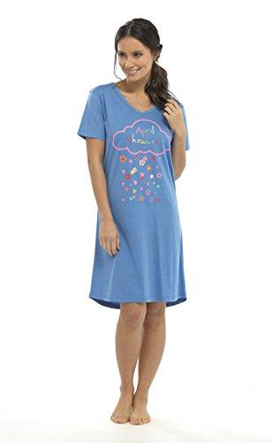 Socks Uwear - Chemise de nuit - Femme Bleu - Bleu