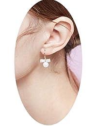 d5027b1c5af6 Earrings Home Pendientes de botón para Mujer Pendientes de Bowknot  Pendientes con Personalidad de