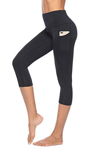 Ducomi IVY Leggings Donna Sportivi a Vita Alta con Tasche - Leggins Fitness, Push up, Snellente e Anticellulite - Effetto Dimagrante per Allenamento, Palestra, Yoga e Tempo Libero (Black, M)
