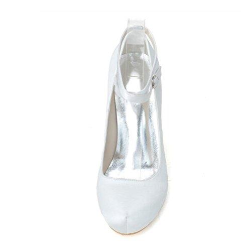 LEI&LISatin chaussures femme Printemps / Eté / automne / hiver talons / Round Toe mariage / fête & soirée talon aiguille noir / bleu / rose / violet gold