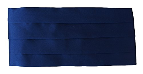 (Navy blue) - Quality Satin Cummerbund (various colours) Navy Cummerbund