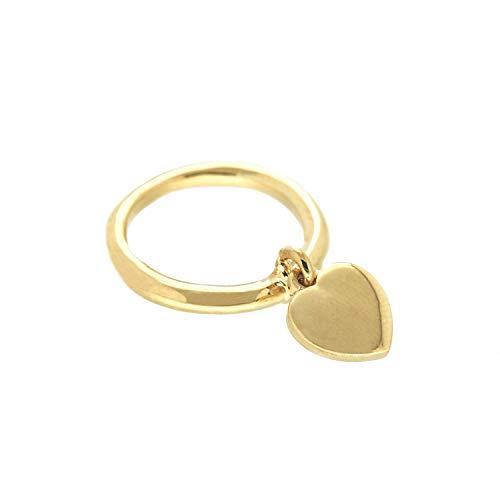 Sweet Deluxe Ring Heart, Gold I Damen-Ring I Mode-Schmuck Ring für Frauen I Ringe Rings für Mädchen I modisches Design-Accessoires