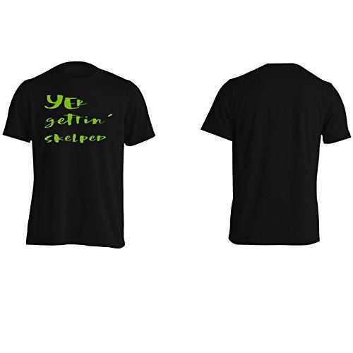 yer ottenendo skelped divertente Uomo T-shirt c135m Black