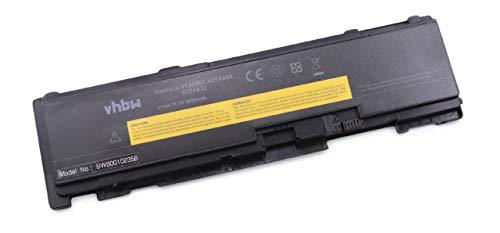 vhbw Batterie Li-ION 3600mAh 11.1V Noire pour IBM Lenovo Thinkpad remplace Les modèles 51J0497, 42T4690, 42T4691, 42T4688, 42T4689
