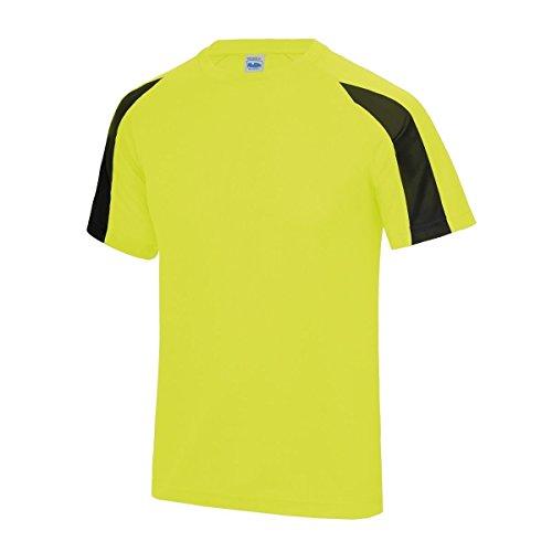 AWDis Herren T-Shirt - Electric Yellow/ Jet Black
