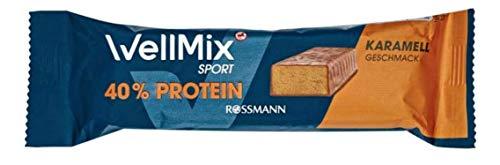 WellMix Sport Riegel Karamel mit 40{d93ad23cdca6f8d54762e89bb28e0ea800795abaca626636557d9c2cb01d6b19} Protein, 10er Pack (10 x 45g)