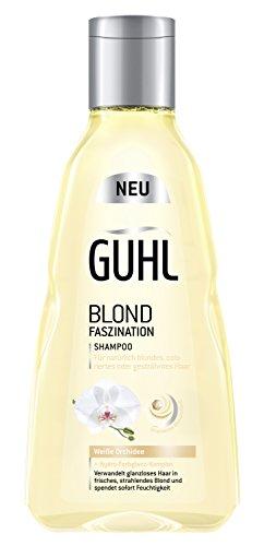Guhl Blond Faszination Shampoo - 2er Pack (2x 250 ml) - mit weißer Orchidee - Glanz für ein...