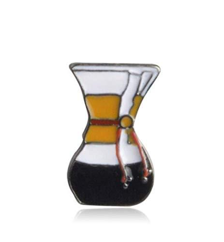 MEIDI Home Máquina de café Broches exquisitos Botón Insignia Accesorio para la Ropa Insignias Encantadoras Creativas