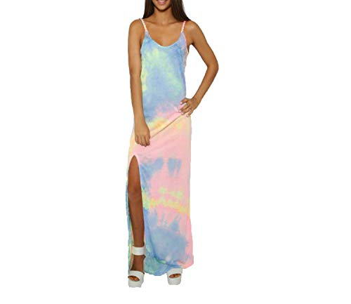 Lejorce Vestido de Noche de Verano con Flecos y eslingas Bohemian Neon Long Skirt (Color : Neon Long Section, tamaño : Grande)