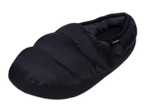 BXT - Zapatillas térmicas para Adulto con Forro Polar para casa o casa, Color Negro, Talla 41-43 EU