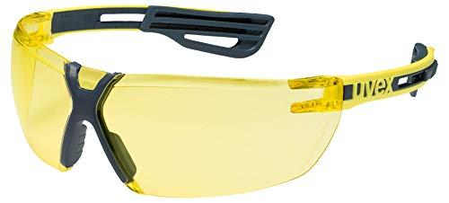 Uvex X-Fit Pro Schutzbrille - Gelbe Arbeitsbrille - Gelb-Schwarz