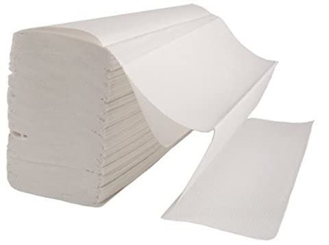 3000 x Z Fold WHITE Paper Hand Towels (23.5cm x 24cm) 2 Ply