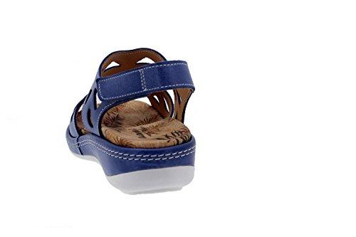 Scarpe donna comfort pelle Piesanto 8905 sandali soletta estraibile comfort larghezza speciale Jeans