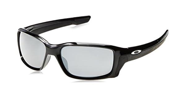 Oakley Herren Sonnenbrille Straightlink 933116, Schwarz (Polished Black/Prizmblackpolarized), 58