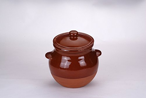 Kitchen Traditional Kitchen Cooking Pot with Lid Clay 4. 0lt o-4l