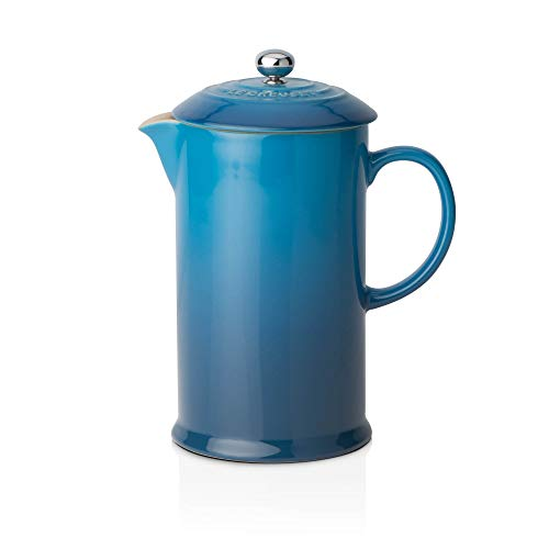 Le Creuset Kaffee-Bereiter/French Press mit Edelstahl-Presseinsatz, 800 ml, Steinzeug, Marseille