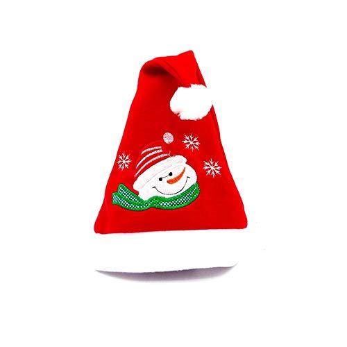 (ODJOY-FAN Weihnachtsmann Hut Weihnachten Party Rot Blau Hüte Deckel Unisex Gedruckt Mützen Kostüm SAMT Caps Neuheit Winter (40cm*29cm)(A,1 PC))