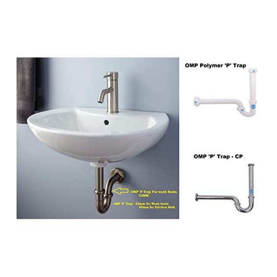 Polymer P Trap Deluxe for Wash Basin and Kitchen Sink