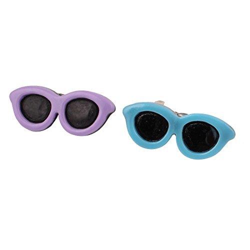 Artikelbild: Pet Hair Bows Clips Zonnebril Doggie Dog Accessoires 2 stuks Paars Blauw